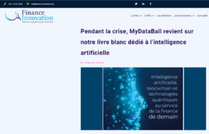 Pendant la crise, MyDataBall revient sur notre livre blanc dédié à l'intelligence artificielle